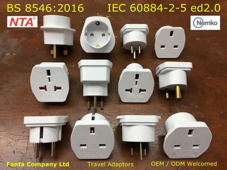 BS8546 Approved Travel Adaptors